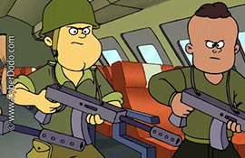CyberDodo lucha a favor de la prohibición de niños soldados (2-30)